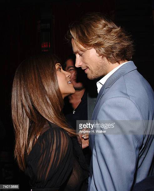 Halle Berry surprises Wilhelmina model Gabriel Aubry with a party hosted by Calvin Klein Inc on April 27 2007 in New York City