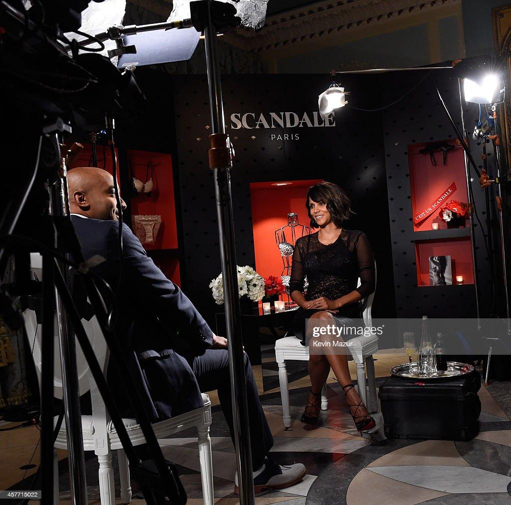 Halle Berry unveils 'Scandale Paris' at Laduree Soho on October 23, 2014 in New York City.