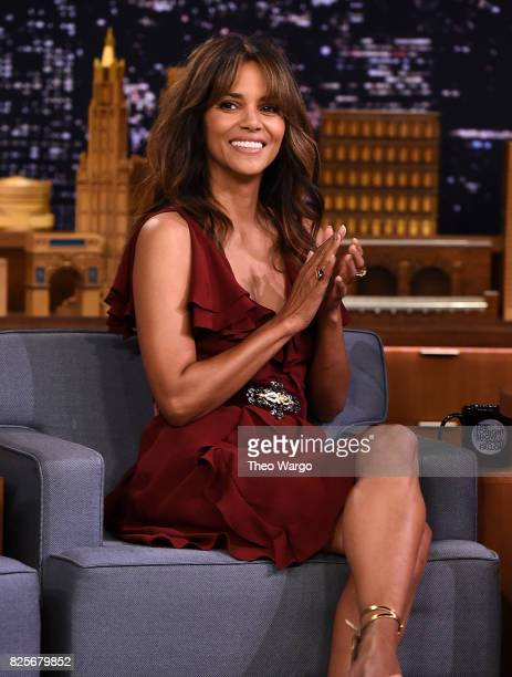 "Halle Berry Visits ""The Tonight Show Starring Jimmy Fallon"" at Rockefeller Center on August 2, 2017 in New York City."