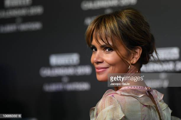 Halle Berry walks the red carpet ahead of the 2019 Pirelli Calendar launch gala at HangarBicocca on December 5 2018 in Milan Italy