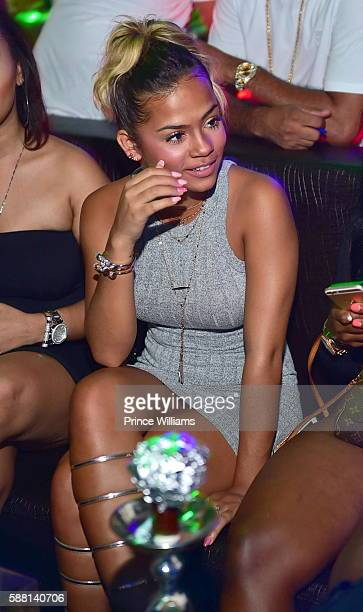 Halle Calhoun attends Tammy Rivera's Birthday Celebration on August 10 2016 in Atlanta Georgia