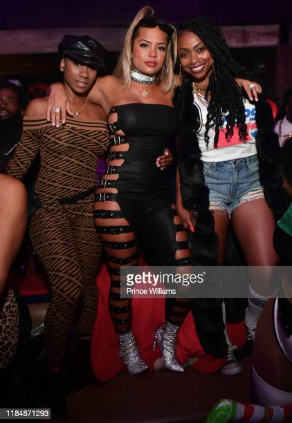 Halle Calhoun guest and Jazz Howard attend Cassette Hosted by BBD at The District on November 1 2019 in Atlanta Georgia