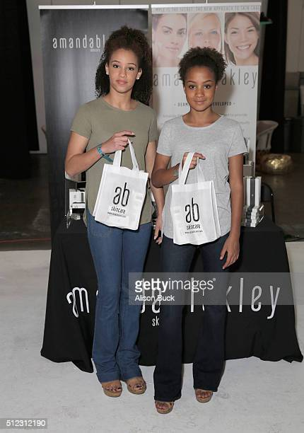 Halle Massiah and actress Corinne Massiah attend Kari Feinstein's Style Lounge presented by LIFX on February 25 2016 in Los Angeles California