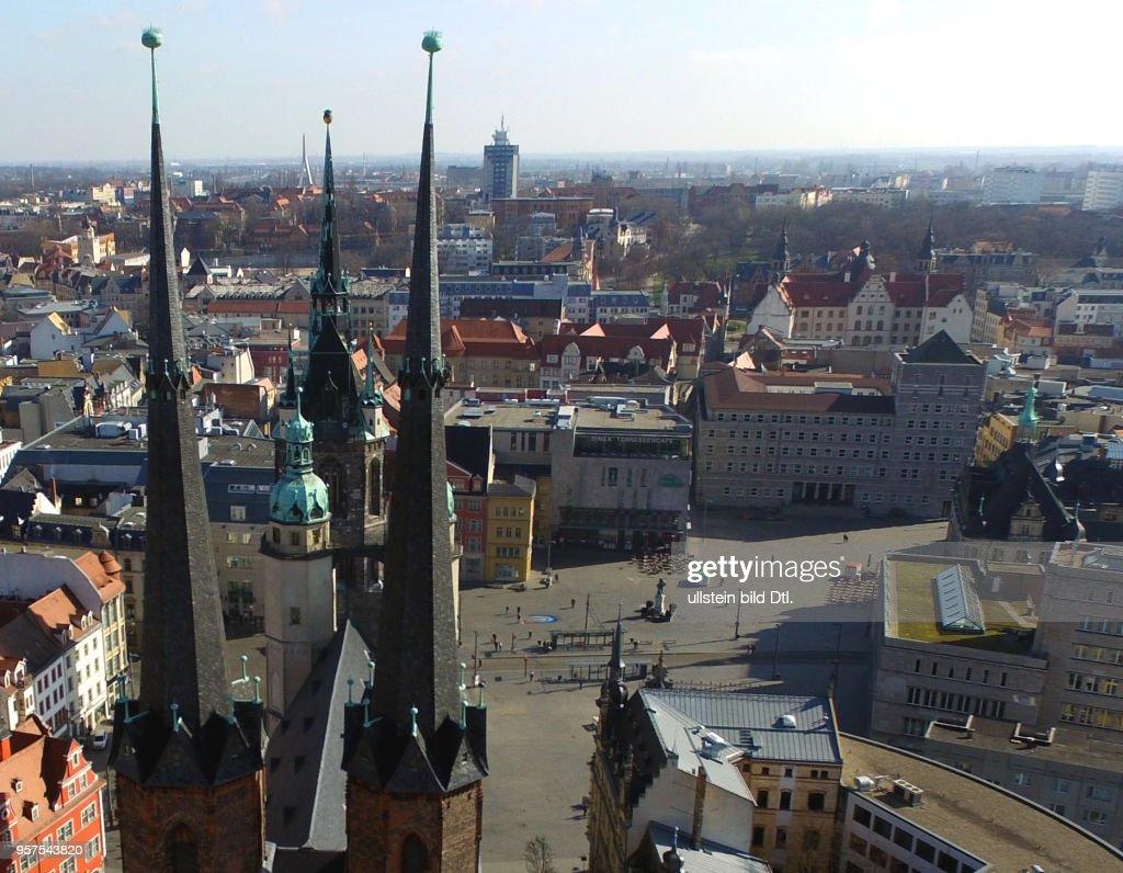 halle saale marktplatz kirche unser lieben frauen marktkirche