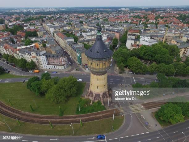 Halle saale Wasserturm Paracelsusstraße Paulusviertel Sachsen Anhalt Luftaufnahme Drohnenaufnahme Drohnenbild Drohnenaufnahme Stadtansicht Ansicht...