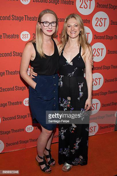 Halley Feiffer and Marin Ireland attend 'The Layover' Off Broadway Opening Night at Second Stage Theatre on August 25 2016 in New York City