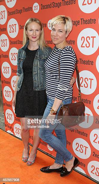 Halley Feiffer and Rebecca Henderson attend the OffBroadway Opening Night of 'Sex with Strangers' at the Second Stage Theatre on July 30 2014 in New...