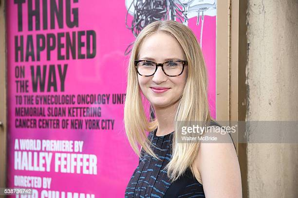 Halley Feiffer attends the opening night of 'A Funny Thing' at Lucille Lortel Theatre on June 7 2016 in New York City