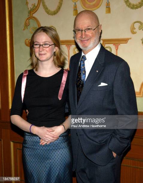 Halley Feiffer with her father Jules Feiffer during 2004 Writers Guild of America East Awards Arrivals at Pierre Hotel in New York City New York...