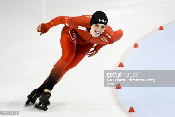 Hallgeir Engebraten of Norway performs in the men's 1500 meter final during day 3 of the ISU Junior World Cup Speed Skating event at Utah Olympic...
