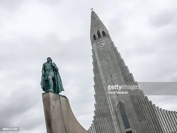Hallgrimmskirka church in Reykjavik, Iceland