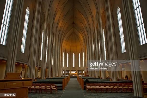Hallgrims Church (Hallgrimskirkja) interior.