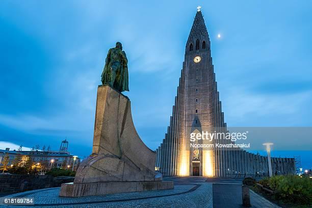 Hallgrimskirkja and the statue