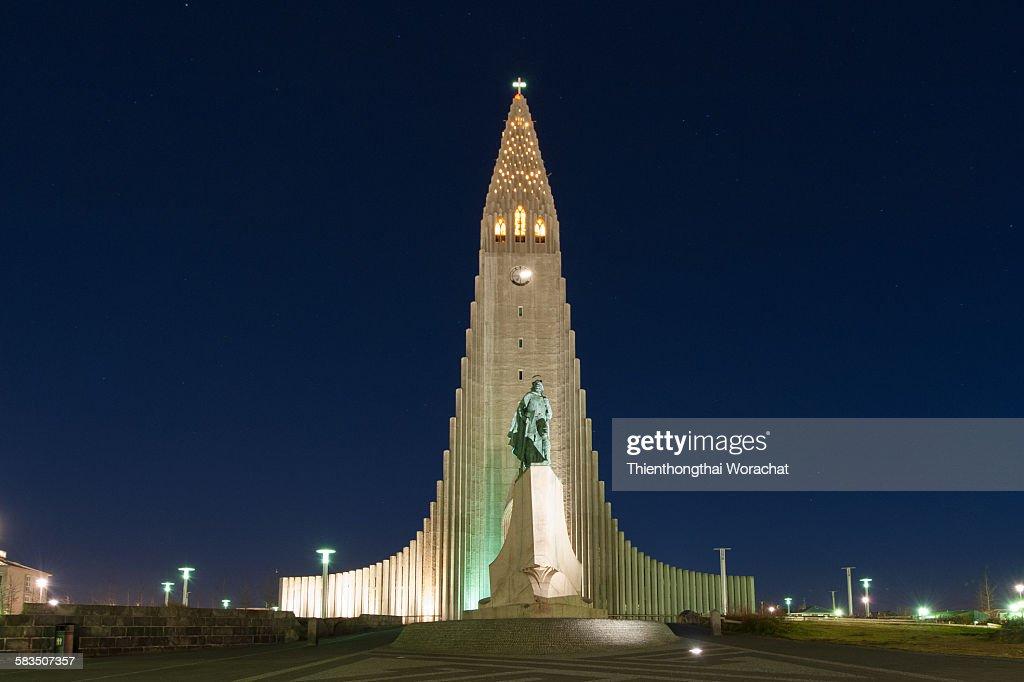 Hallgrimskirkja Church of Iceland : Stock Photo
