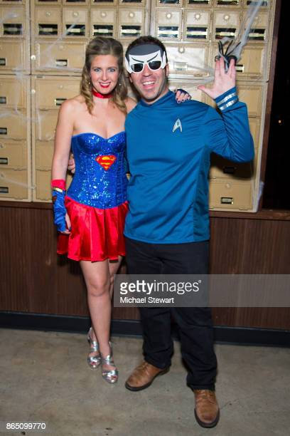 Hallie Friedman and Grant Friedman attend the third annual Scaring Is Caring Halloween party at The Mailroom on October 21 2017 in New York City