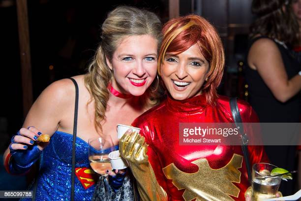 Hallie Friedman and Palak Patel attend the third annual Scaring Is Caring Halloween party at The Mailroom on October 21 2017 in New York City