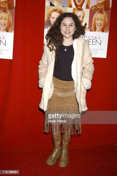 Hallie Kate Eisenberg during Confessions of a Teenage Drama Queen New York Premiere at Loews EWalk Theatre in New York City New York United States