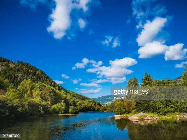hallingdal river - verwaltungsbezirk buskerud stock-fotos und bilder
