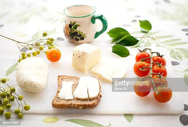 Halloumi cheese with tomato