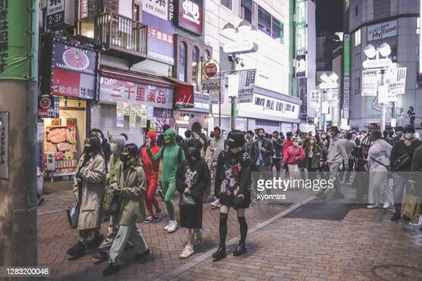 halloween at shibuya tokyo japan in 2020 - kyonntra stock pictures, royalty-free photos & images