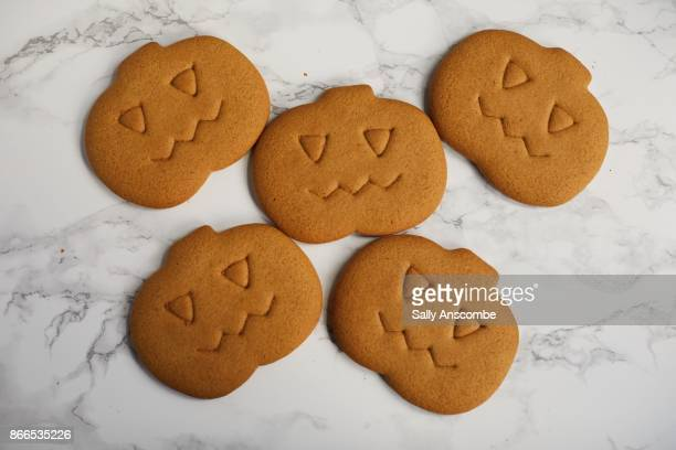 halloween biscuits ready to be decorated - pampering stock pictures, royalty-free photos & images