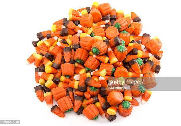 halloween candies - candy corn stock photos and pictures