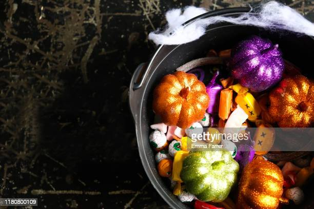 halloween candy - sweet food stock pictures, royalty-free photos & images