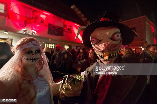 Halloween celebration in Frankenstein Castle near Pfungstadt Germany 31 October 2013 For almost 40 years now each year hundreds of revelers...