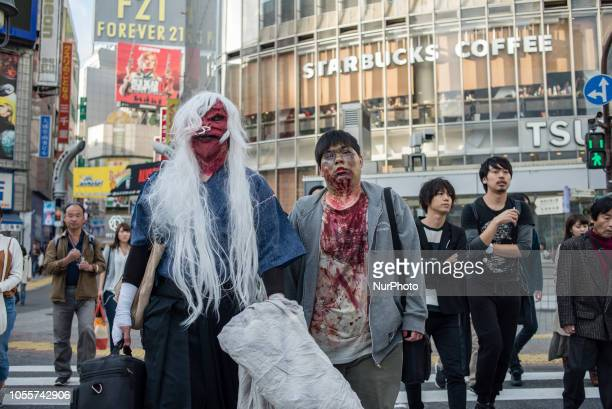 Halloween celebration in Shibuya district Tokyo Japan on October 31 2018