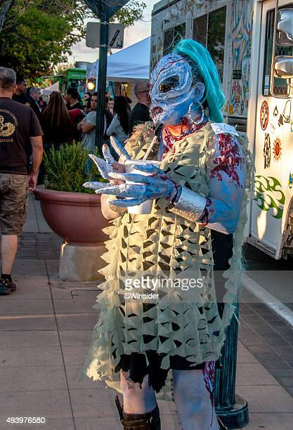 halloween costume at las cruces, new mexico zombie event - las cruces new mexico stock pictures, royalty-free photos & images