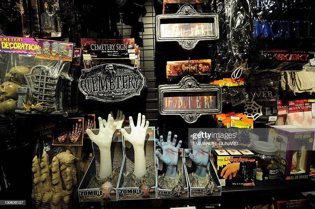 Halloween Shop Displays.Halloween Costumes On Display At A Shop In New York October 25