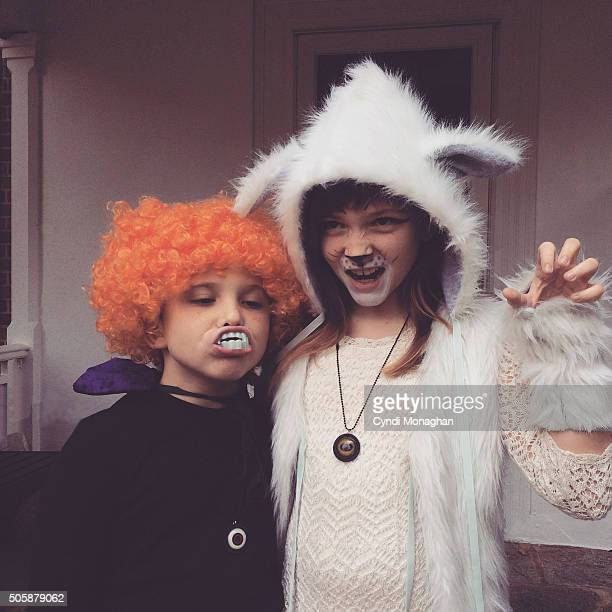 halloween costumes - naughty halloween stock photos and pictures