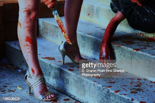 Halloween Crime Scene Stock Photo Getty Images