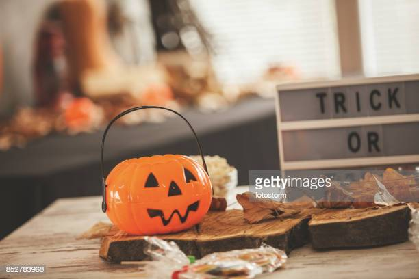 halloween decoration - halloween candy stock photos and pictures