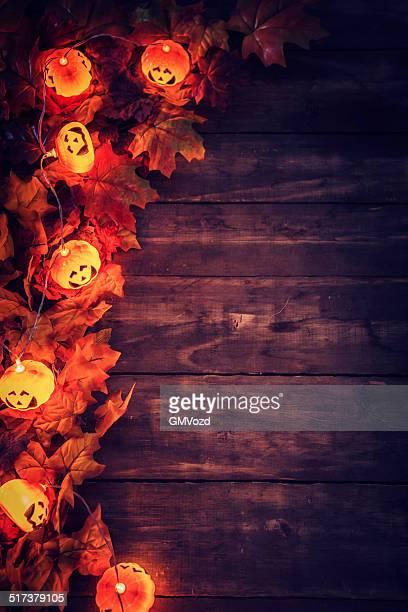Halloween decoration with jack o'lantern