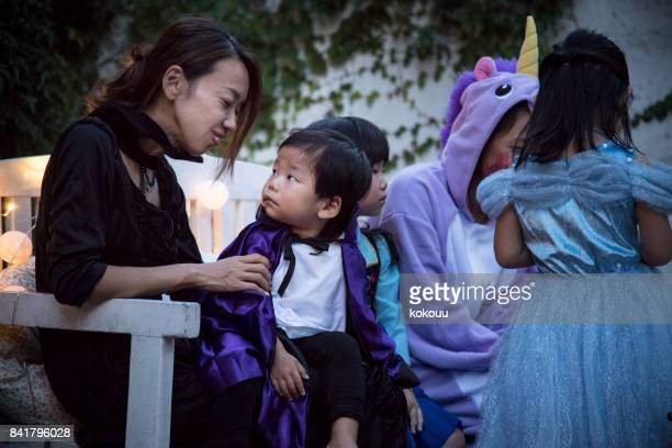 親子で楽しむハロウィン。