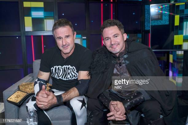 """Halloween Episode"""" Episode 147 -- Pictured: David Arquette, Justin Willman --"""