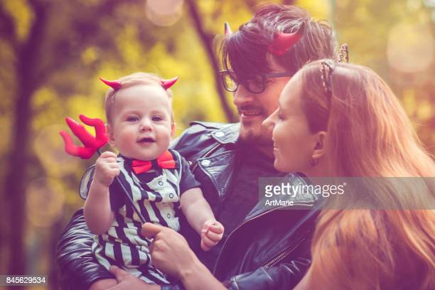 halloween family - stage costume stock pictures, royalty-free photos & images