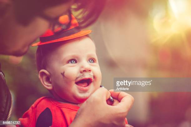 halloween family - halloween kids stock photos and pictures