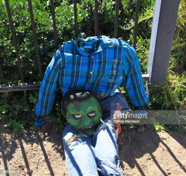 A Halloween Frankenstein Scarecrow