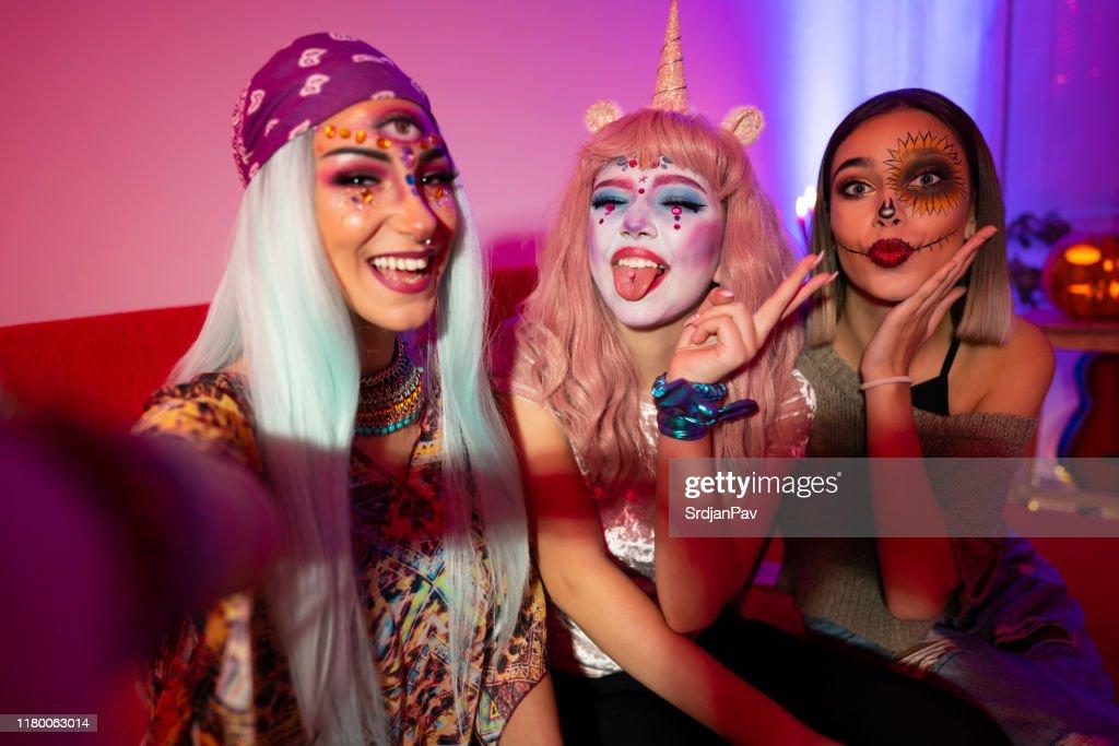 Halloween girls : Stock Photo