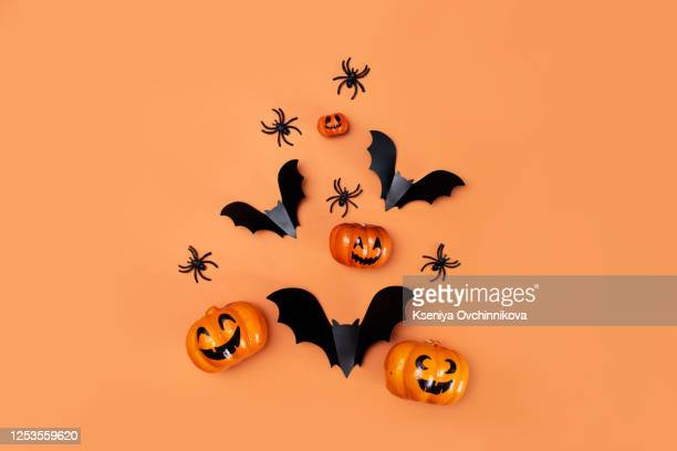 halloween holiday concept. empty rustic table in front of spider web background. ready for product display montage - partido político - fotografias e filmes do acervo