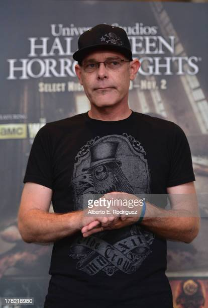 "Halloween Horror Nights"" creative director John Murdy attends Universal Studios' ""Halloween Horror Nights"" media make-up kick-off at The Globe..."