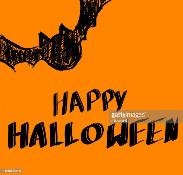 halloween illustration of a bat - cartoon halloween stock photos and pictures