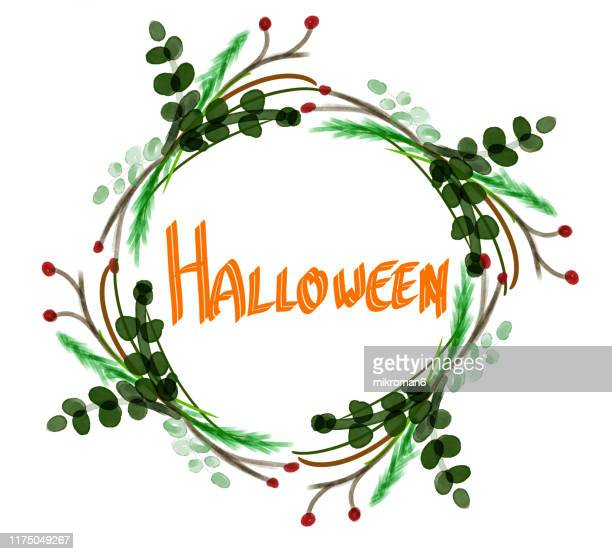 halloween illustration of halloween wishes - flower moon stock pictures, royalty-free photos & images