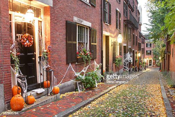 halloween in boston - happy halloween stock photos and pictures