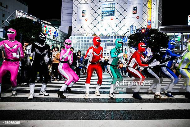 halloween in shibuya tokyo japan - cosplay stock pictures, royalty-free photos & images