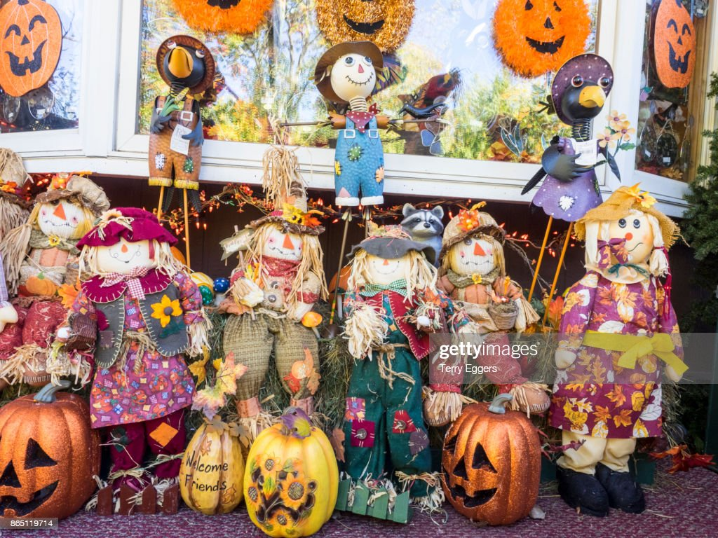 halloween in silvercity michigan stock photo | getty images