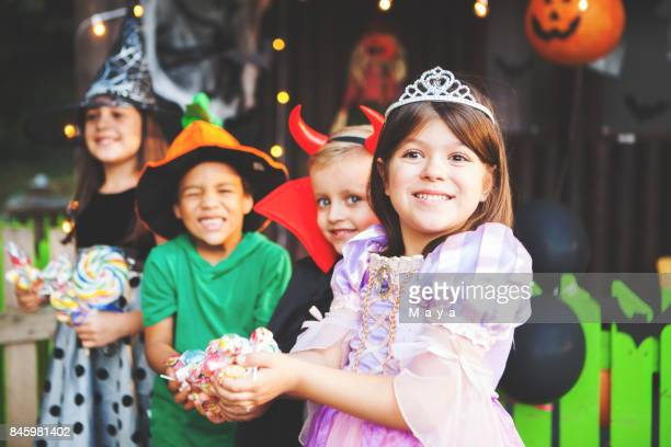 halloween is here - halloween kids stock photos and pictures