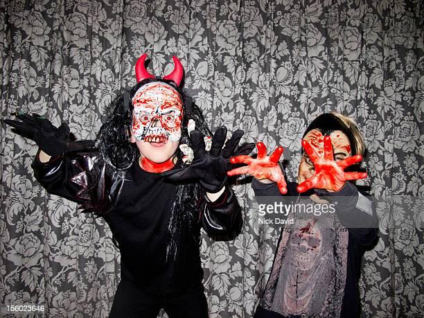 halloween kids dressing up